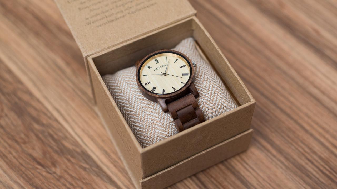 Küfeldt Herbstdämmerung – Produkttests Armbanduhr Holzkern W9EHYD2I