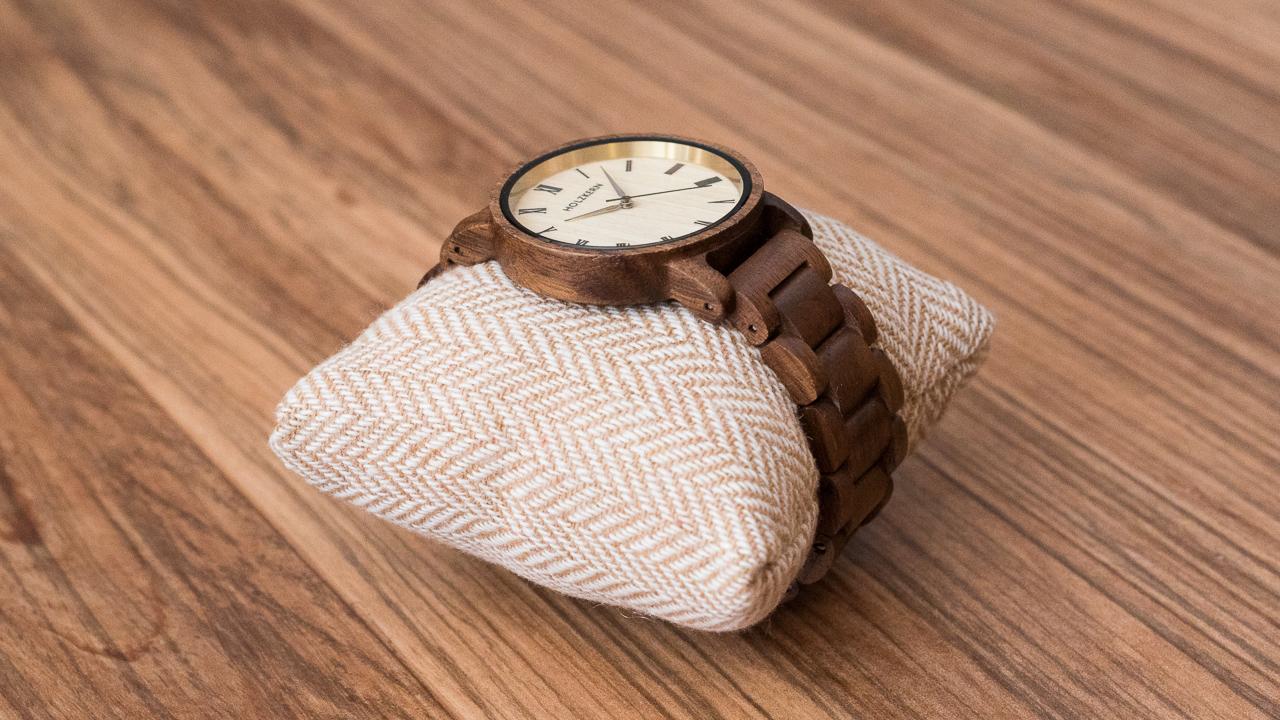 Holzkern Herbstdämmerung Armbanduhr
