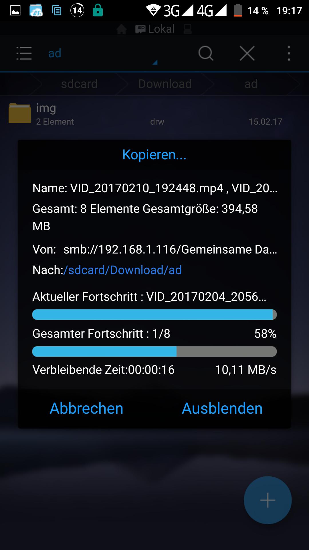 """UMI Z 5,5"""" Smartphone - Datenübertragung im WLAN"""