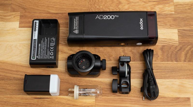 Godox AD200Pro Pocket Flash, Blitz mit Akku und Wechselköpfen